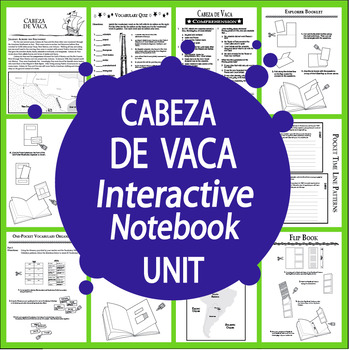 Cabeza de Vaca Spanish Explorer Interactive Notebook Unit