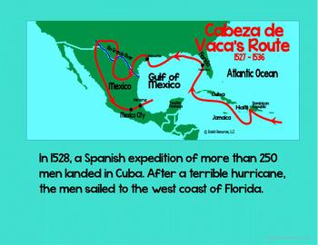Cabeza de Vaca Spanish Explorer Power Point with Notes and Quiz