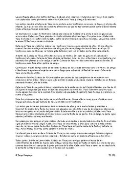 Cabeza de Vaca-Spanish Study Guide