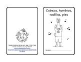 Cabeza hombros piernas pies Head shoulders knees & toes Song in Spanish