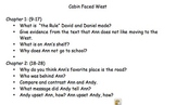 Cabin Faced West Questions