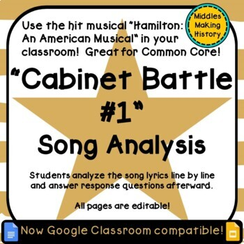Hamilton in the Classroom: Cabinet Battle #1 Song Analysis