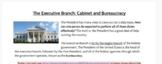 Cabinet Department; Webquest and Scenarios (Executive Branch)