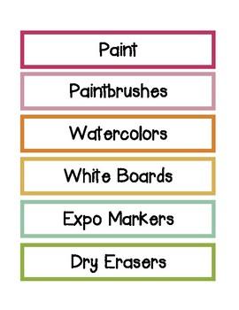 Cabinet / Drawer Labels