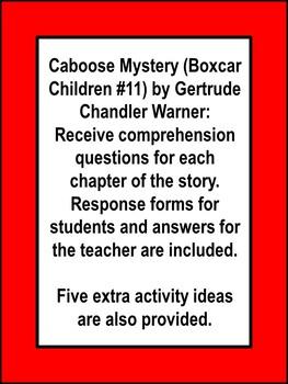 Caboose Mystery Boxcar Children Book Unit