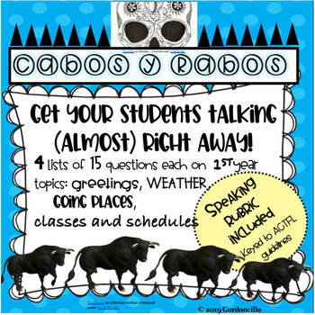 Cabos y rabos-- and interactive speaking activity for all levels