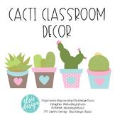 Cactus Classroom Decorations, Editable Classroom Decor