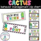 Cactus Classroom Management Clip Chart- Classroom Decor