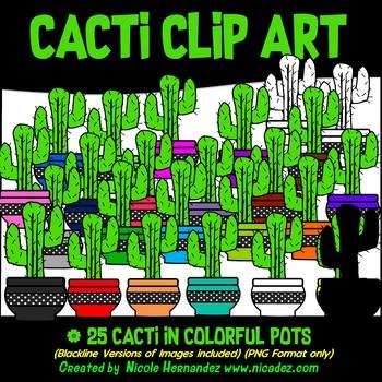Cactus Clip Art for Teachers