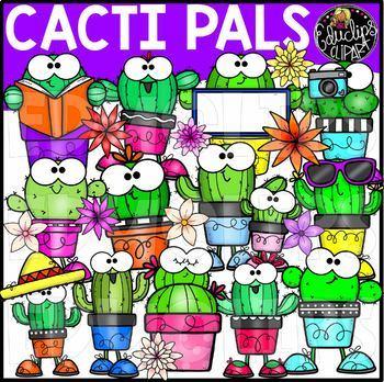 Cacti Pals Clip Art Set {Educlips Clipart}