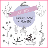 Summer Cacti & Plants - Digital Clip Art