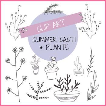 Summer Cacti & Plants - Digital Clip Art
