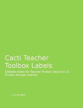 Cacti Teacher Toolbox Editable Labels
