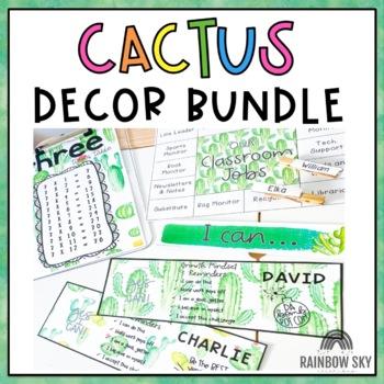 Cacti and Succulent Classroom Decor BUNDLE