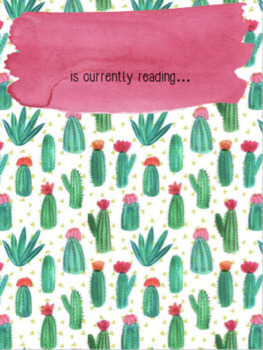 Cactus Theme Currently Reading Display