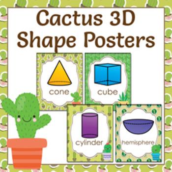 Cactus 3D Shape Posters