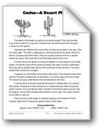Cactus—A Desert Plant