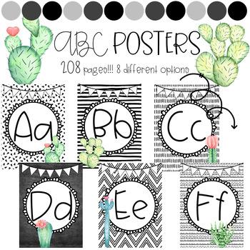 Cactus ABC Posters
