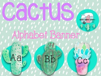 Cactus Alphabet Banner