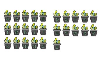 Cactus Alphabet File Folder Activity - Upper and Lowe Case