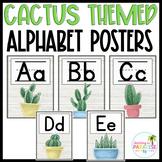 Cactus Alphabet Line Posters