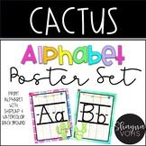Cactus Alphabet Poster Set
