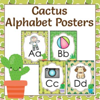 Cactus Alphabet Posters A - Z