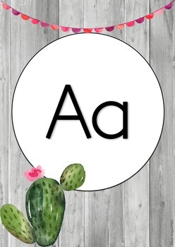 Cactus Alphabet and Number Posters