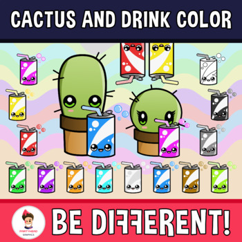 Cactus And Drink Color