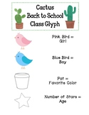 Cactus Back to School Glyph