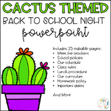 Cactus Back to School Night PowerPoint
