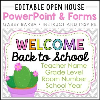 Cactus Back to School PowerPoint