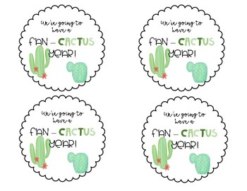 Cactus Beginning of Year Gift Tags