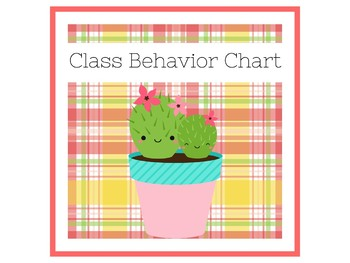 Cactus Behavior Chart | Behavior Chart Cactus Theme | Behavior Clip Chart Cactus