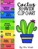 Cactus Behavior Clip Chart *Parent Note & Calendar in Engl