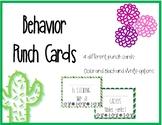 Cactus Behavior Punch Cards