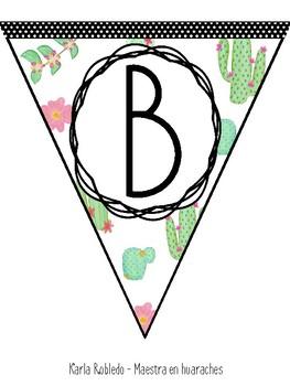 Cactus Bienvenidos/Welcome Bunting! ~BILINGUAL~