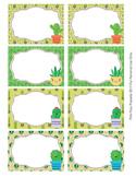 Cactus Bin Labels Classroom Decor