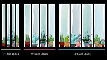Cactus Binder Cover Printables Succulent Theme Personalized Editable Custom