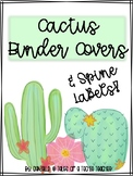 Cactus Binder Covers and Spine Labels