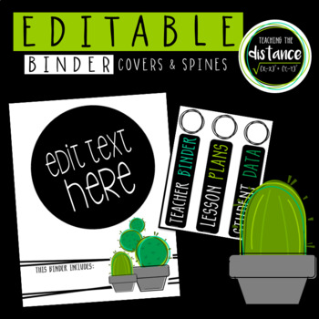 Cactus Binder Covers and Spines