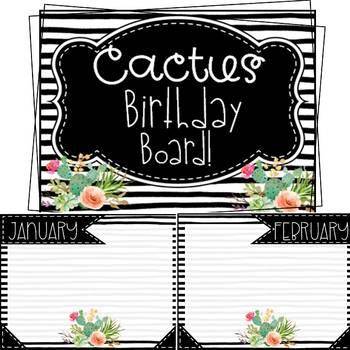 Cactus Birthday Board