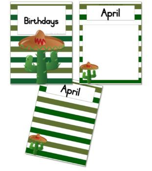 Cactus / Succulent Birthday Calendar