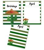Cactus Birthday Calendar