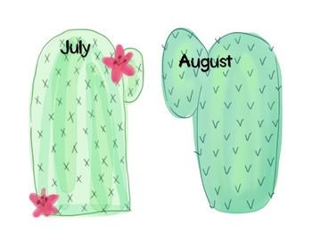 Cactus Birthday Chart