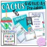 Cactus Birthday Printables and Bunting {Editable Posters}