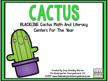 Cactus Blackline Math & Literacy Centers for the Whole Year