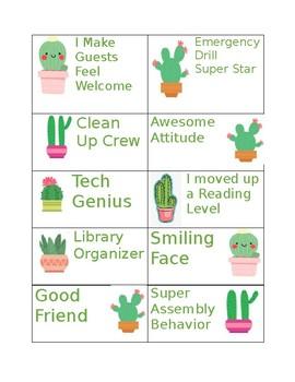 Cactus Brag Tags