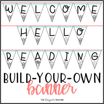 cactus banner letter pennants build your own by the designer teacher
