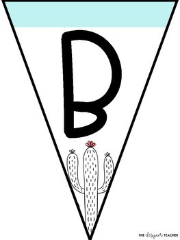 Cactus Banner Letter Pennants {Build Your Own}